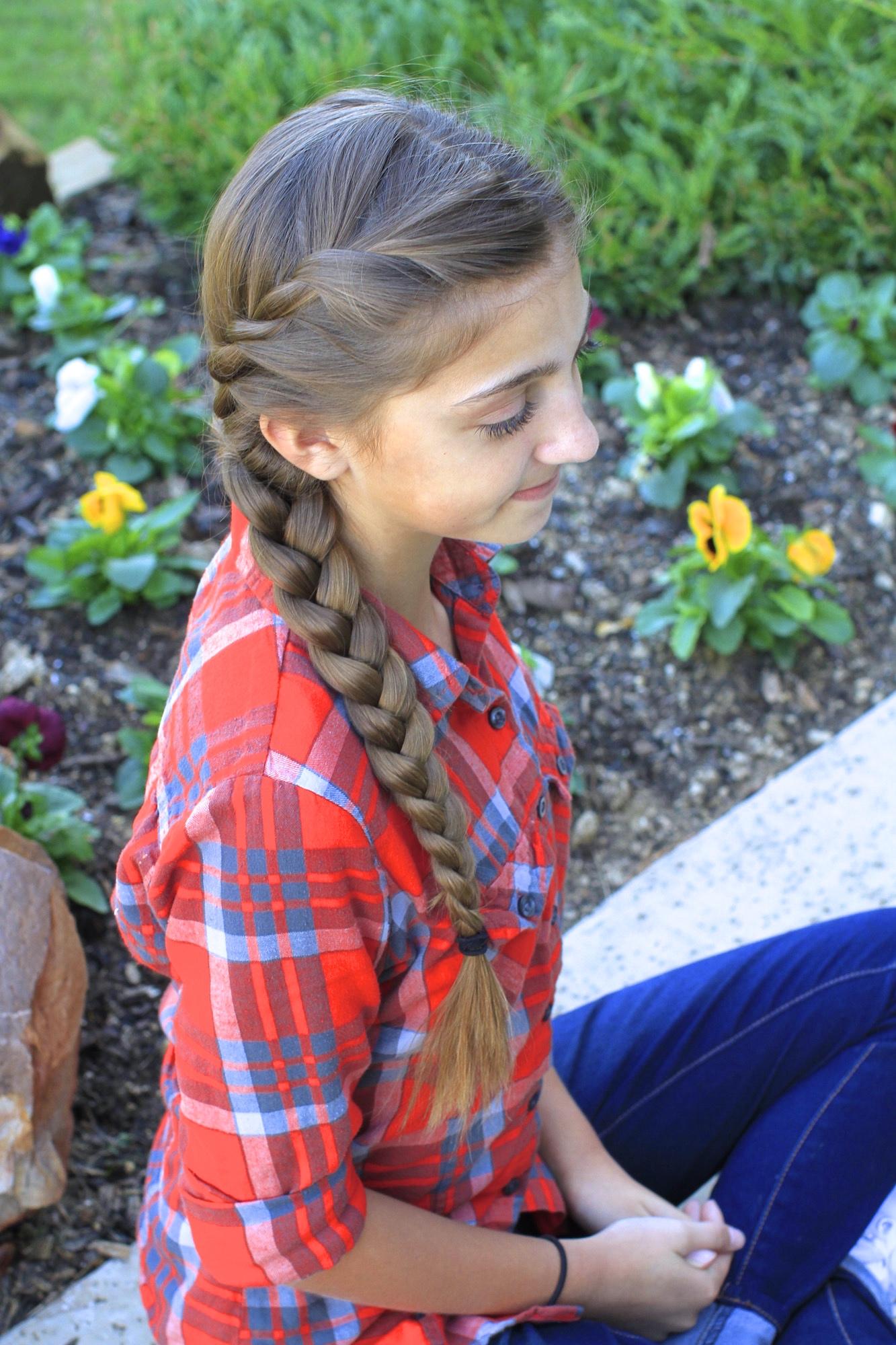 French Twist into Side Braid - Cute Girls Hairstyles