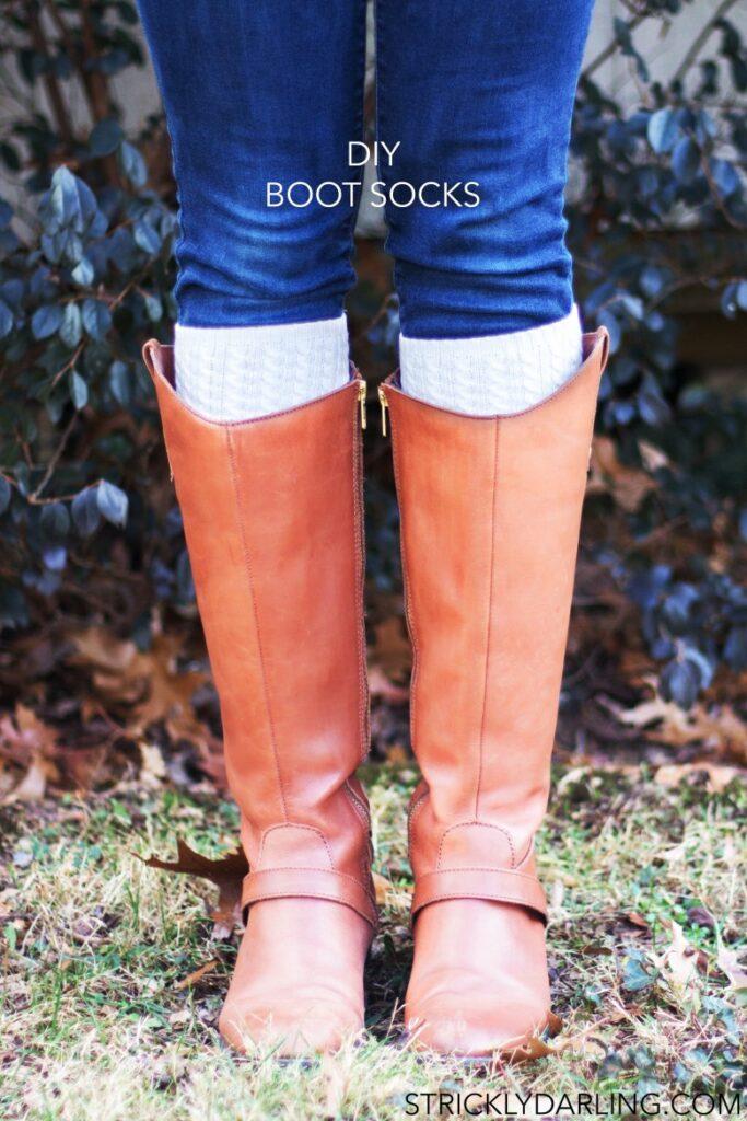 DIY Boot Socks Cuffs