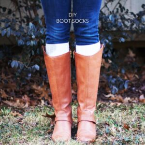 DIY Boot Socks Cuffs