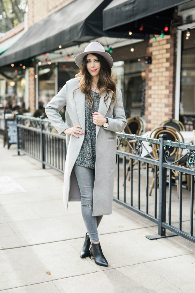 Grey + Black, Hat & Coats