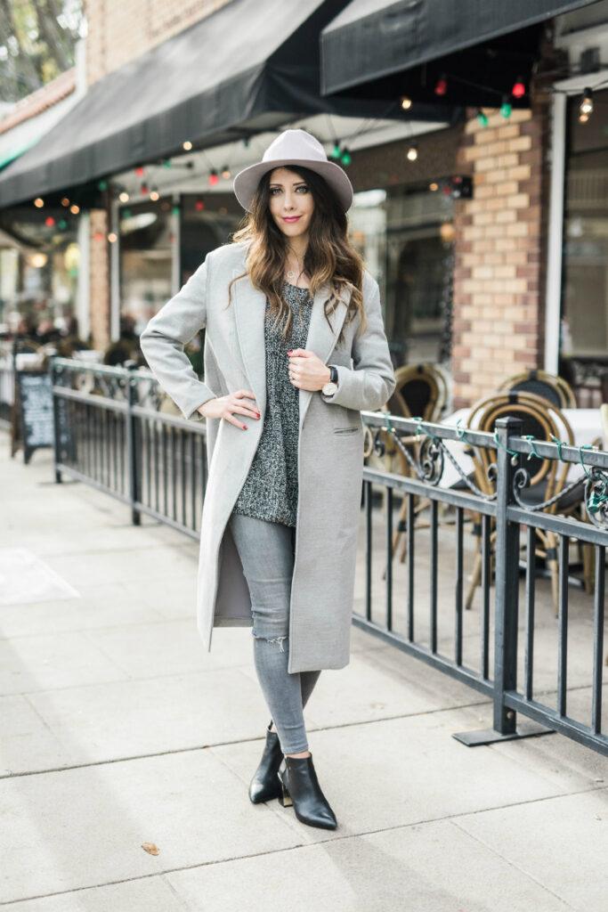Grey + Black, Hat & Coats