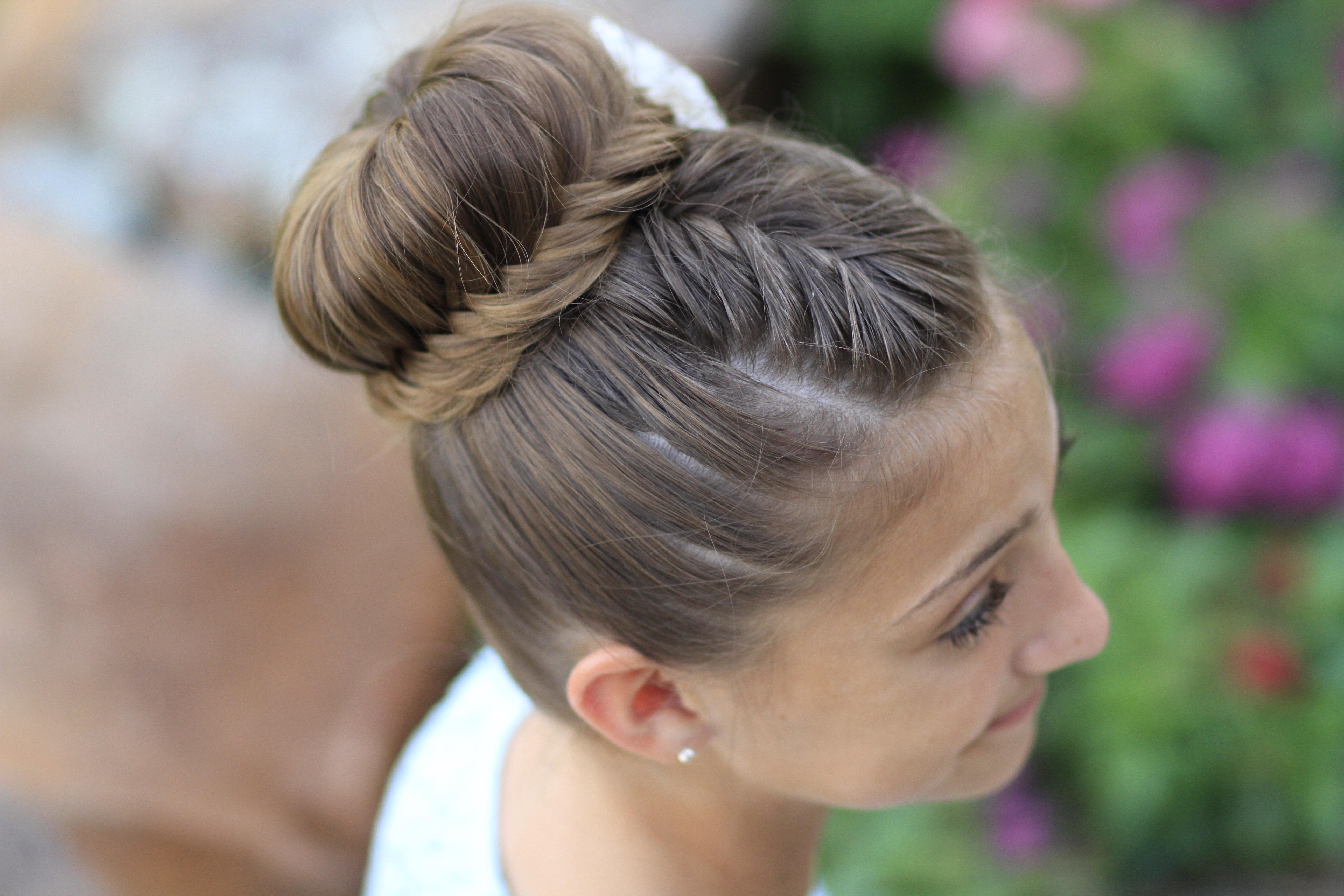 Bun Hair Style: How To Create A Lace Fishtail Bun