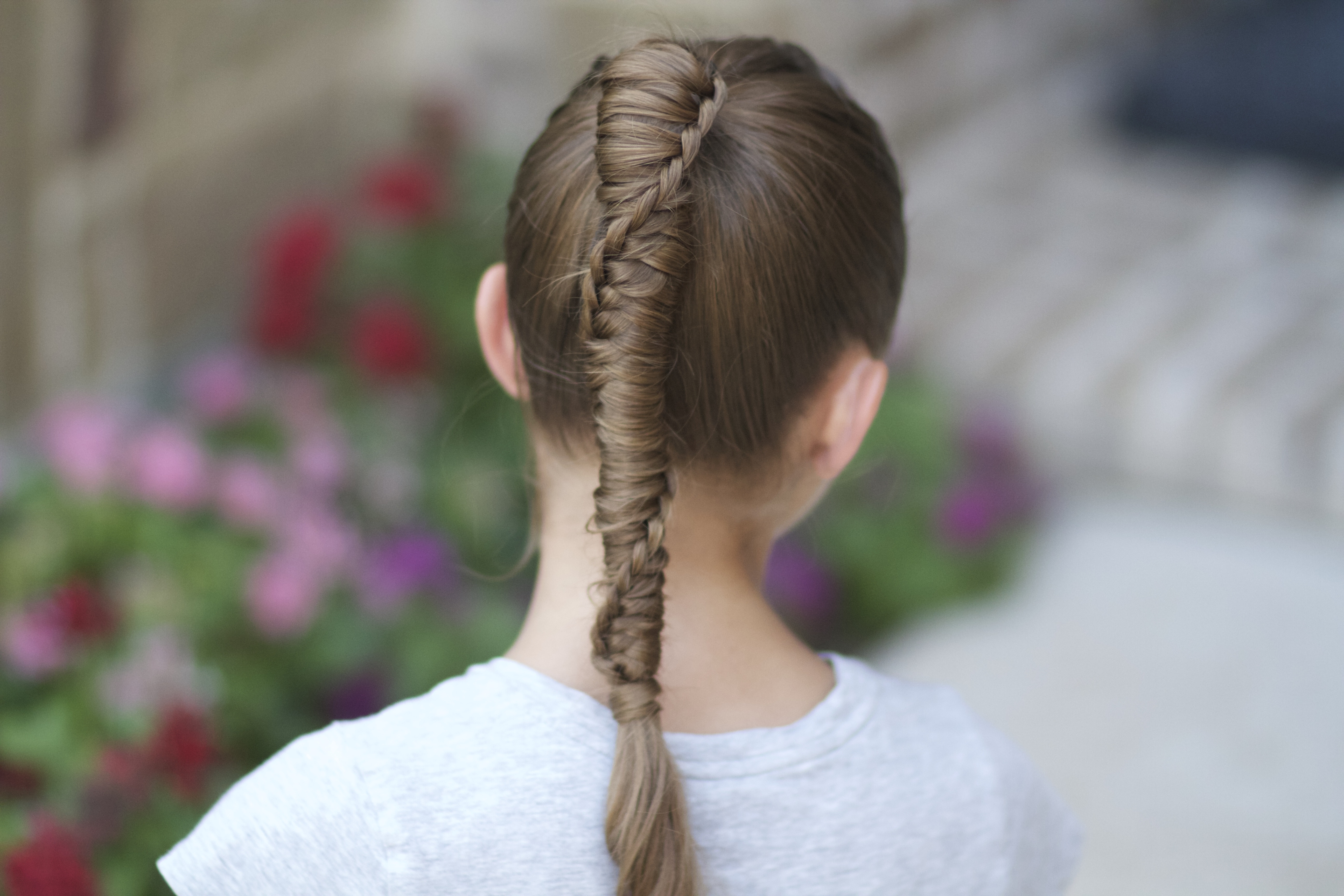 Chinese Staircase Braid Cute Girls Hairstyles