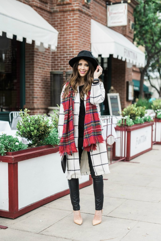 Winter Style | Black Hat | Plaid