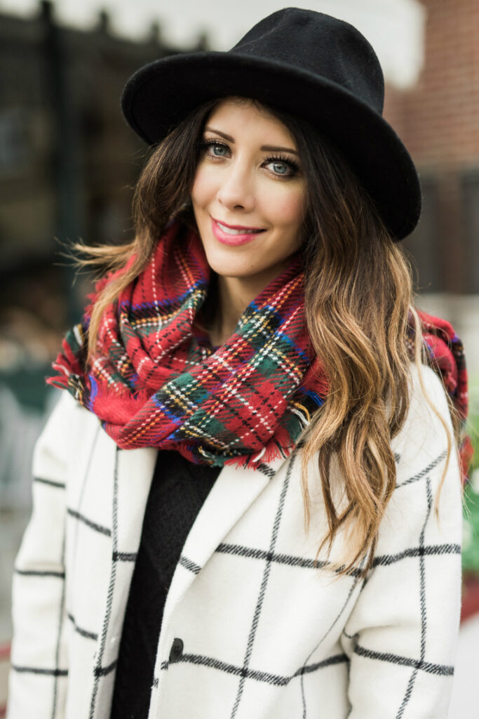 Winter Hat & Coat | Plaid | Fashion