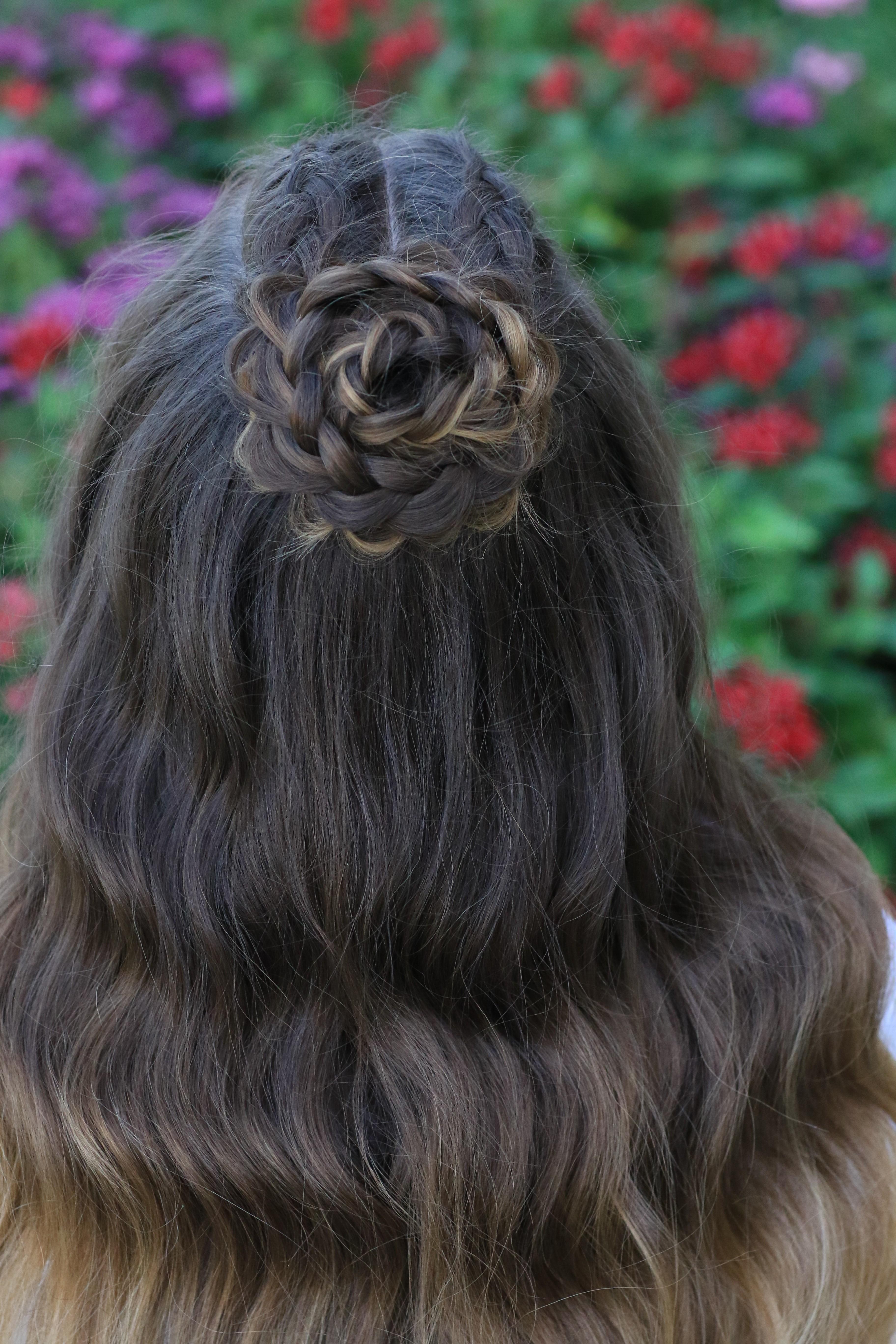 Half Up Rosette Combo Homecoming Hairstyles Cute Girls