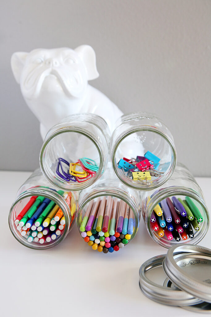Art Supplies Organizer | Mason Jar