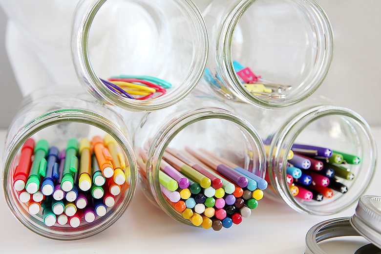 Organizer | Office Supplies | Mason Jar