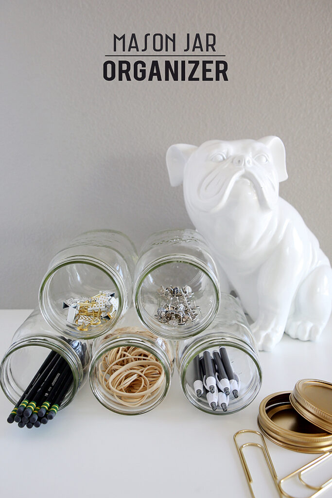 Mason Jar Organizer | DIY