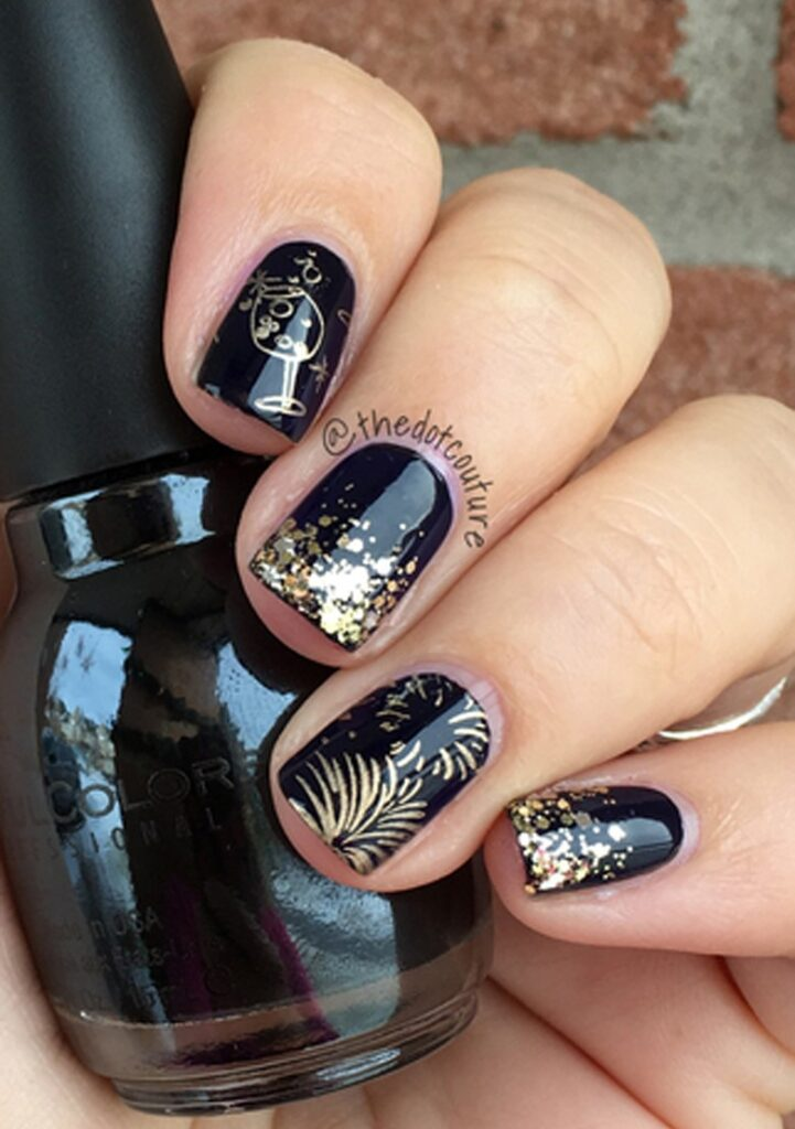 New Year S Eve And Beyond Party Nail Art Cute Girls Hairstyles