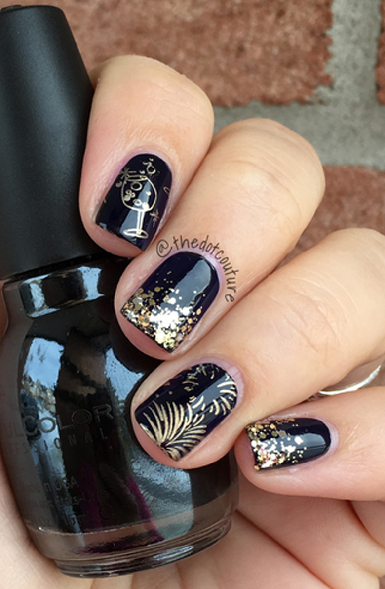 New Years Eve And Beyond Party Nail Art Cute Girls Hairstyles