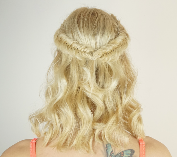 Valentine's day hairstyles | Fishtail