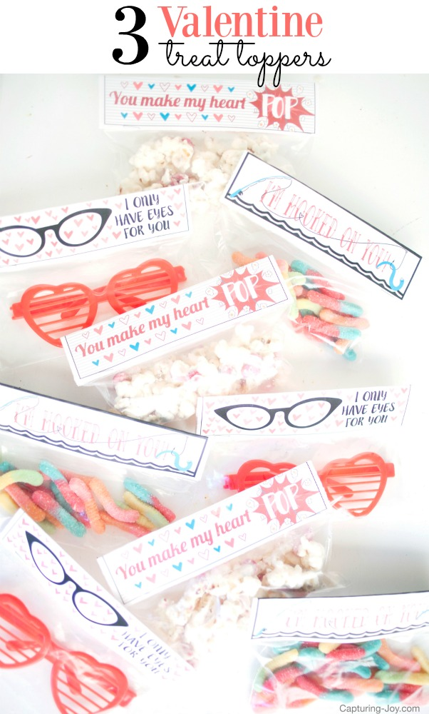 3 Valentine Treat Toppers