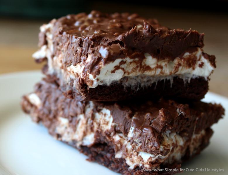 Marshmallow Krispy Brownies
