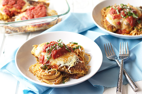 Chicken Parmesan -an easy and quick meal and no soggy crust!