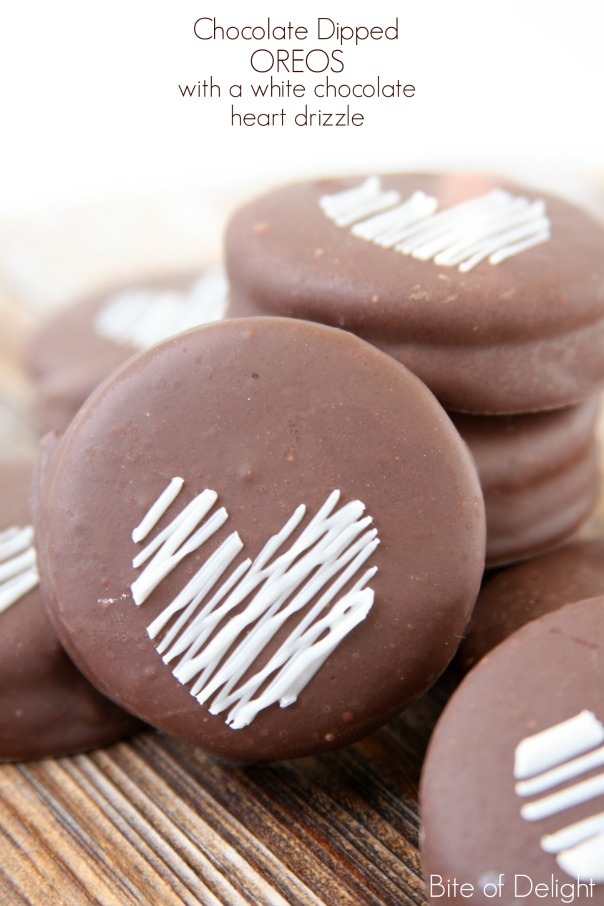 Chocolate Dipped Oreos | Valentine's Day