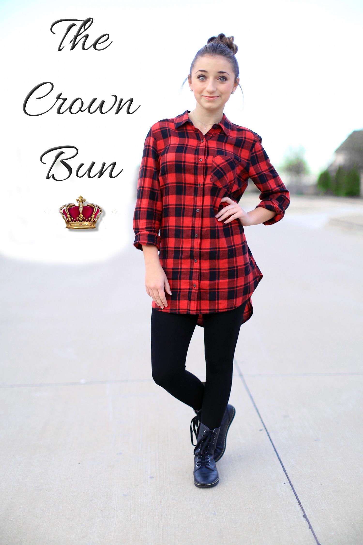 How to Create a Crown Bun   Cute Girls Hairstyles