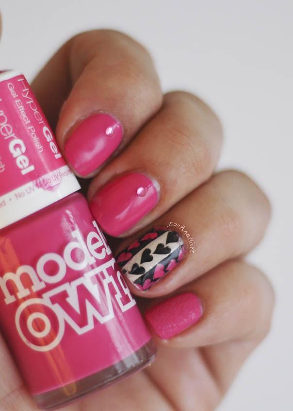 Valentine's Day Pink Nail Art