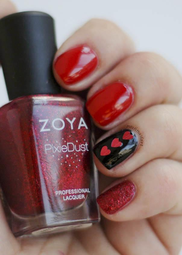 Red Valentine Manicure