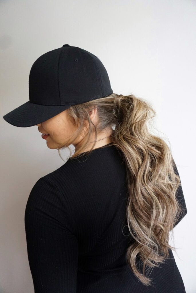 Hairstyles for Hats | Messy Ponytail