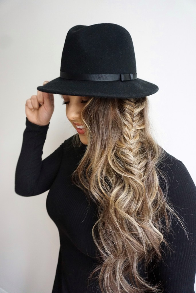 Hairstyles for Hats | Messy Fishtail Braid