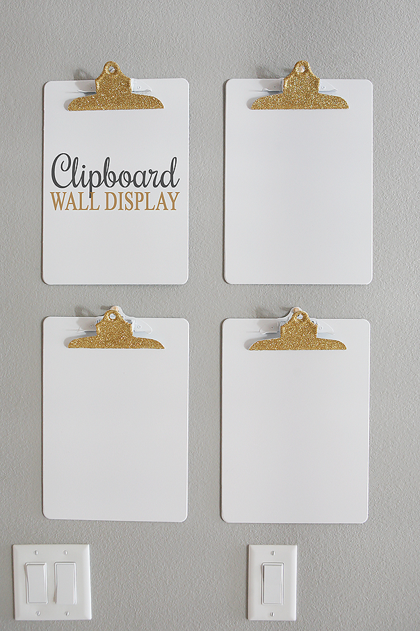Clipboard Wall Display