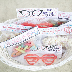 Valentine treat toppers printable