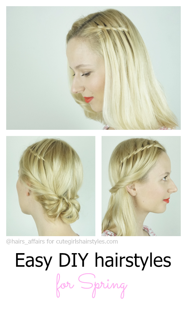 Spring hairstyles | Waterfall Twist