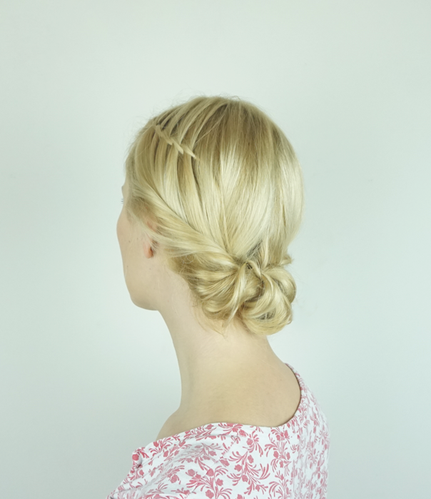 Waterfall Twist Updo
