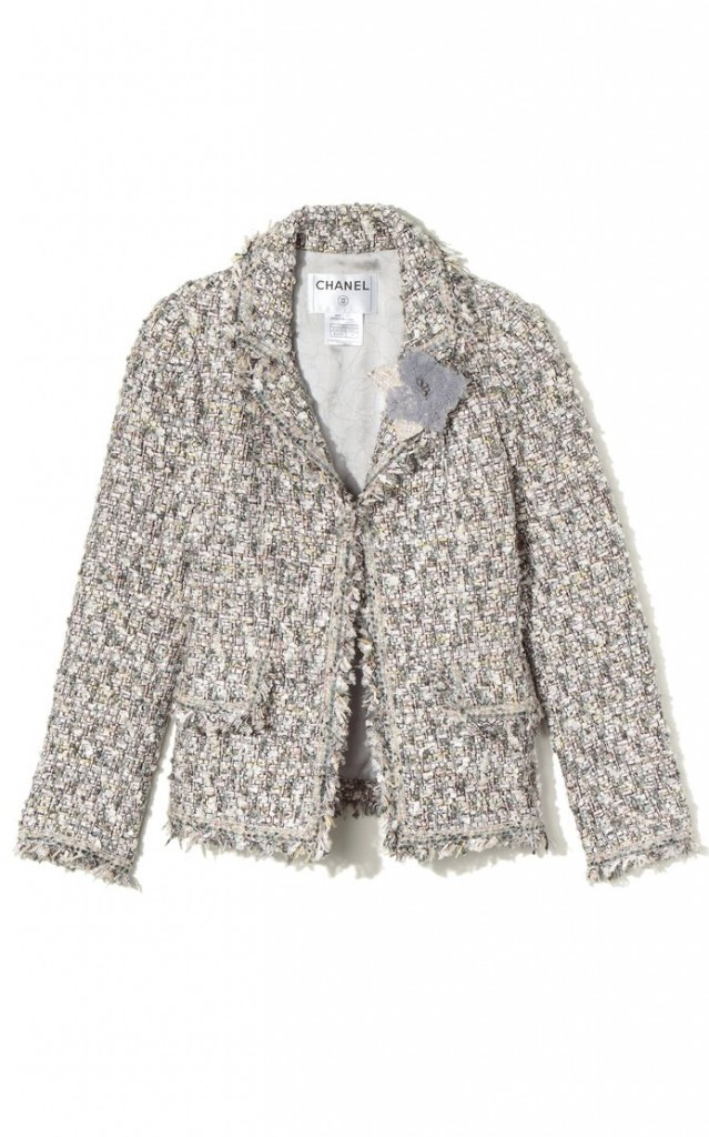 Tweed Jacket |Flower Broach
