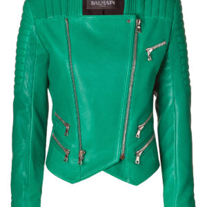 Leather Jacket |Green