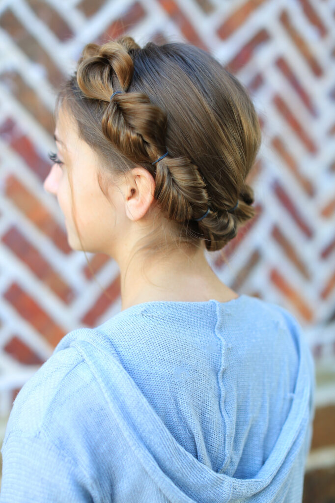 Faux Fishtail Braided Crown
