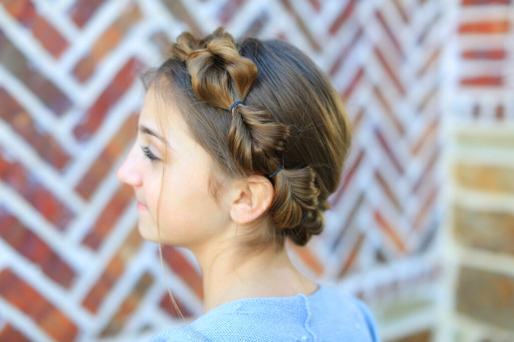 Bubble Fishtail Crown Braid