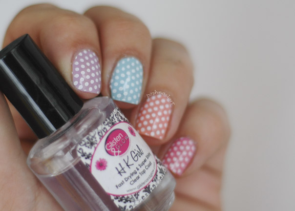 Cute Easter Polka Dot Mani