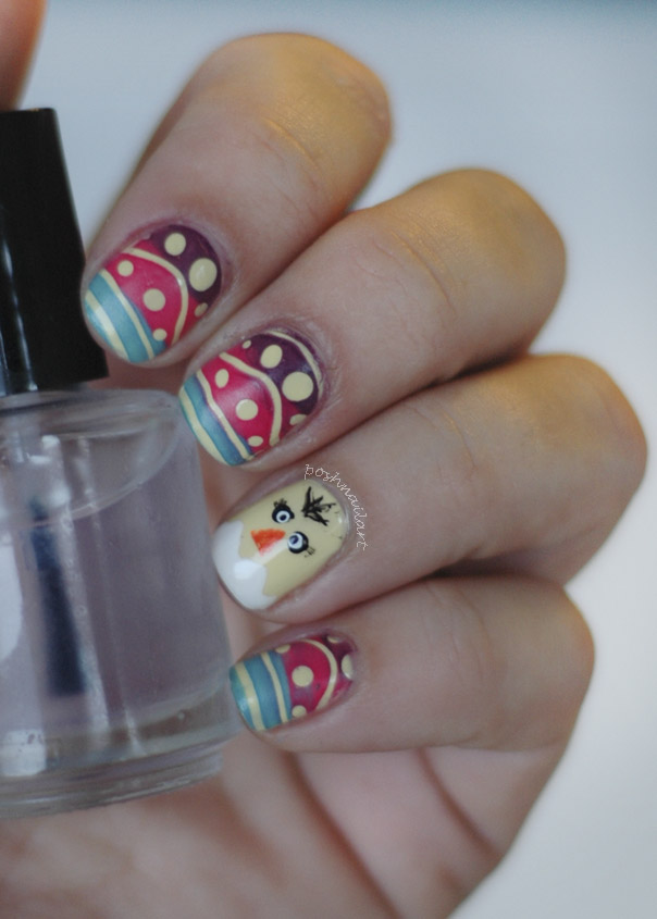 Easter Chick Nail Art