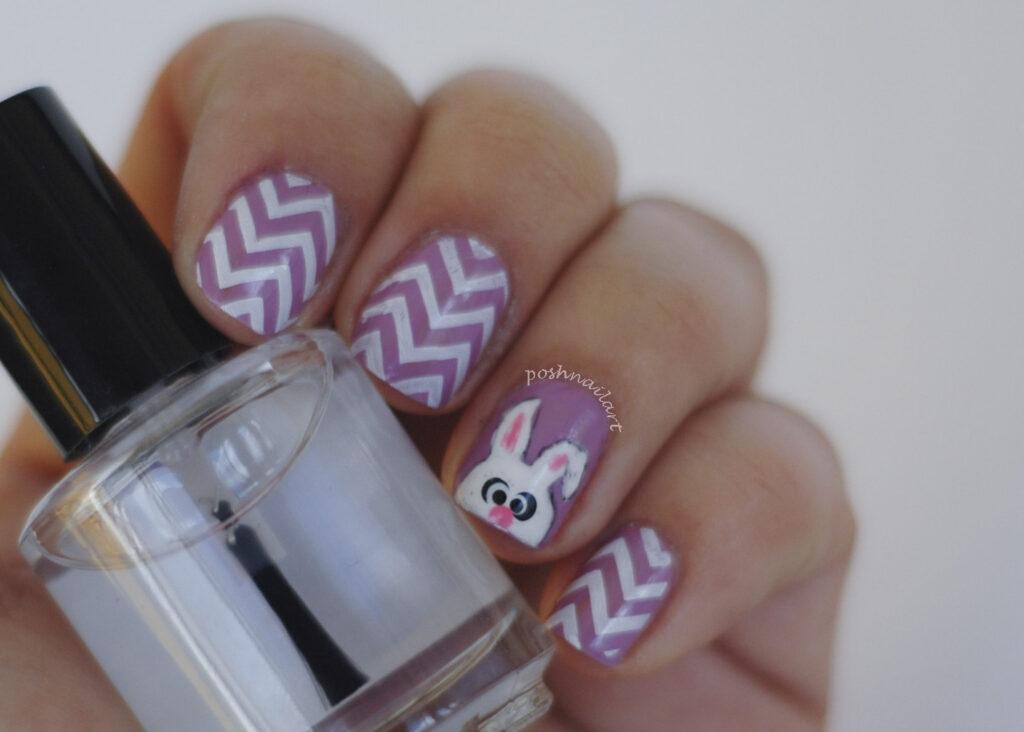 Easter Bunny Nails | Chevron