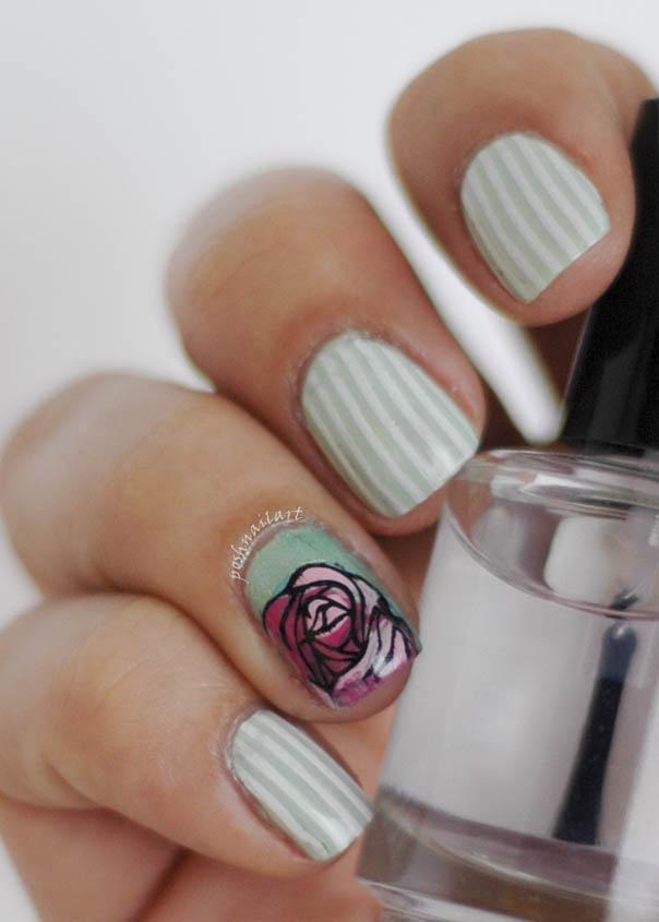 Mint Green Nail Art