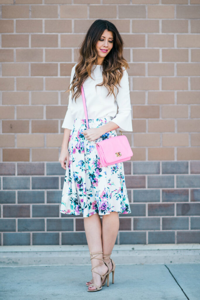 Floral Midi | Pop of Pink