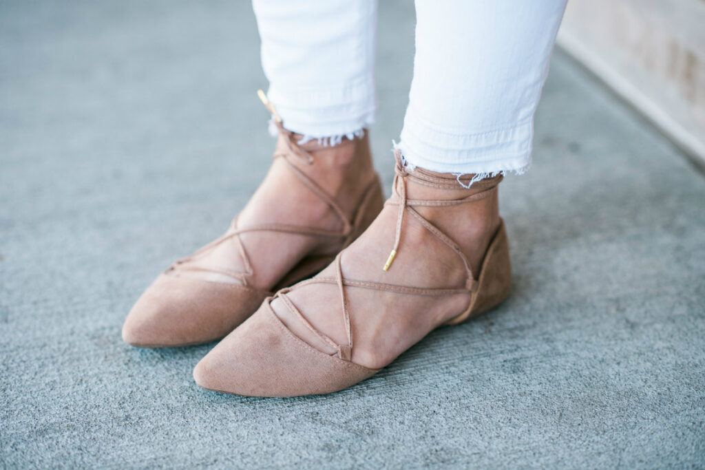Lace Up Flats | Spring Fashion