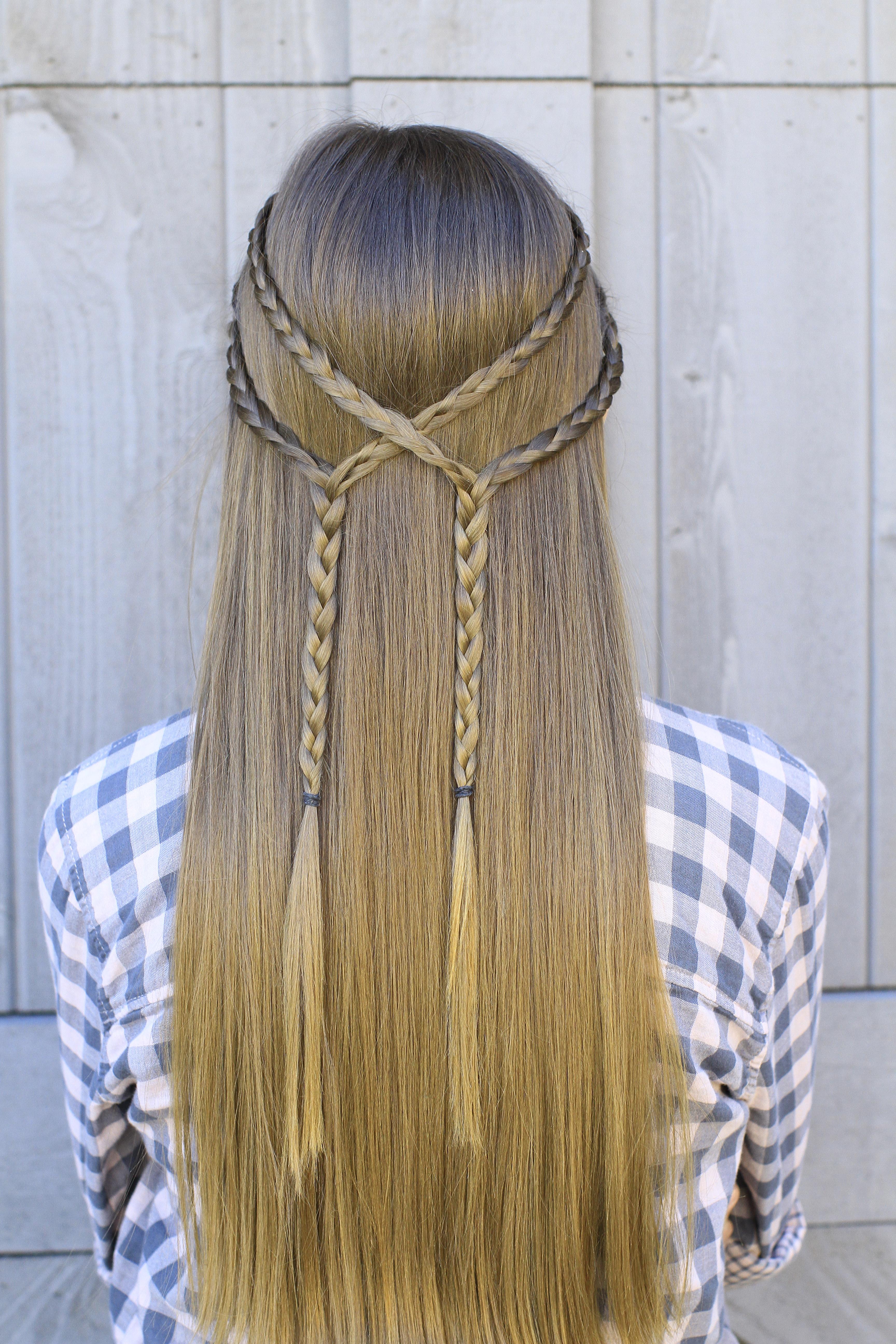 Double Braid Tieback Diy Cute Girls Hairstyles