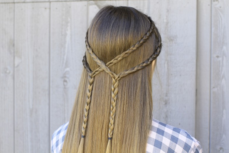Double Braid Tie-back   Cute Hairstyle