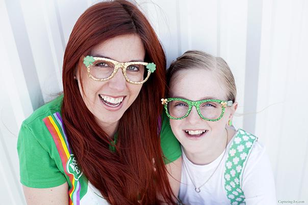 St Patricks day DIY glasses