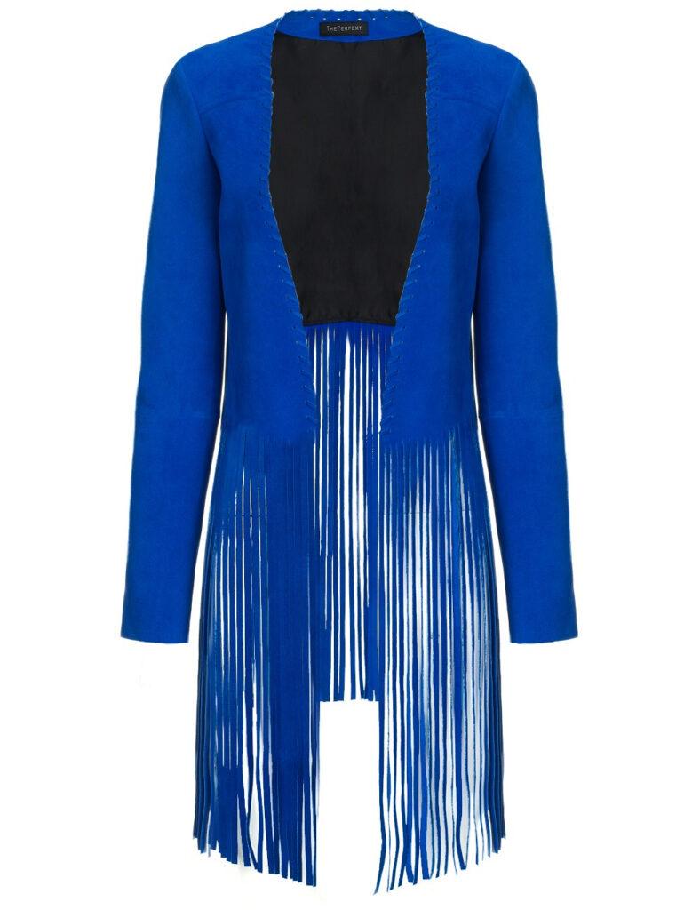 Blue Suede Jacket | Fringe