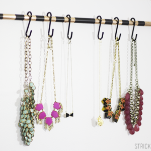 DIY Necklace Wall Organizer