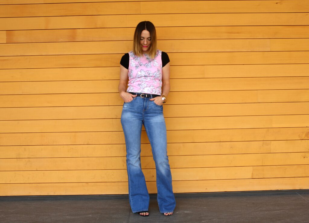 Flare Jeans | Layered Shirt
