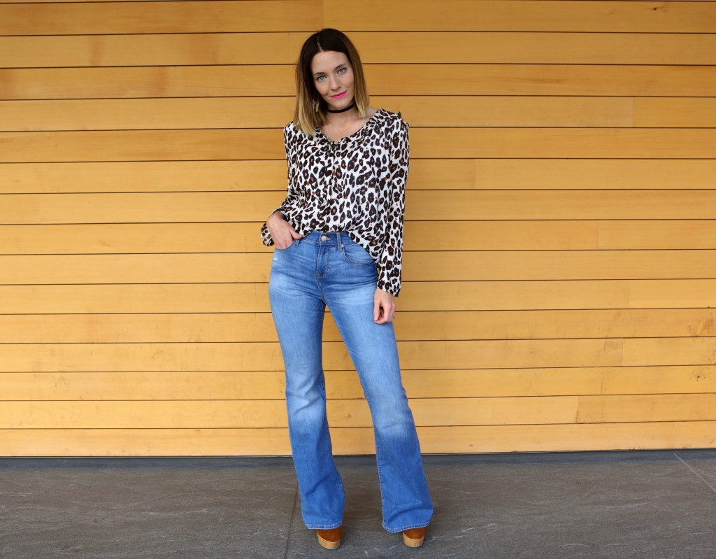 Flare Jeans | Leopard Shirt