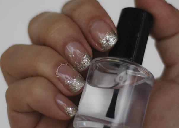 Prom Nails | Glitter Tips