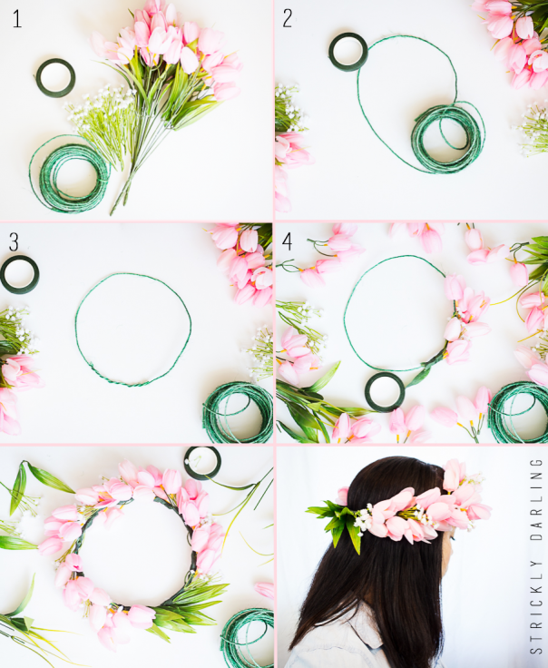 Diy Flower Crown Cute Girls Hairstyles