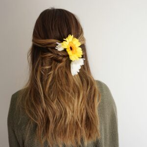 Half Up Hair | Twists | Flowers for Hair
