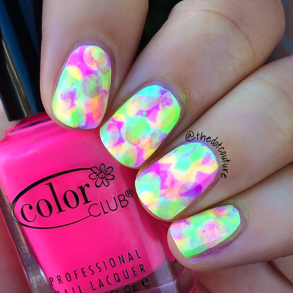 Neon Nimbus Nail Art